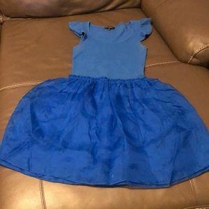 Betsey Johnson blue taffeta/cotton spandex  dress